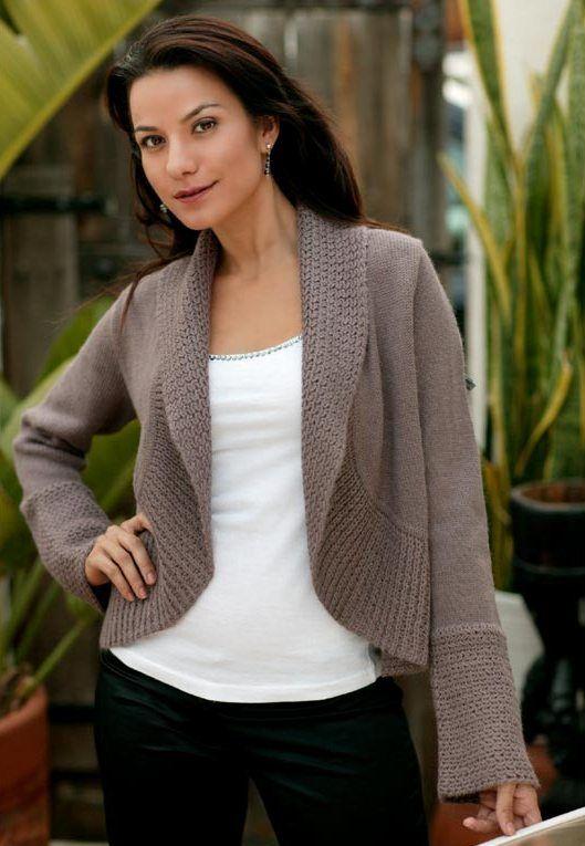 Resultado de imagen para modelos de sacos de lana para dama 8f2efeeebb82