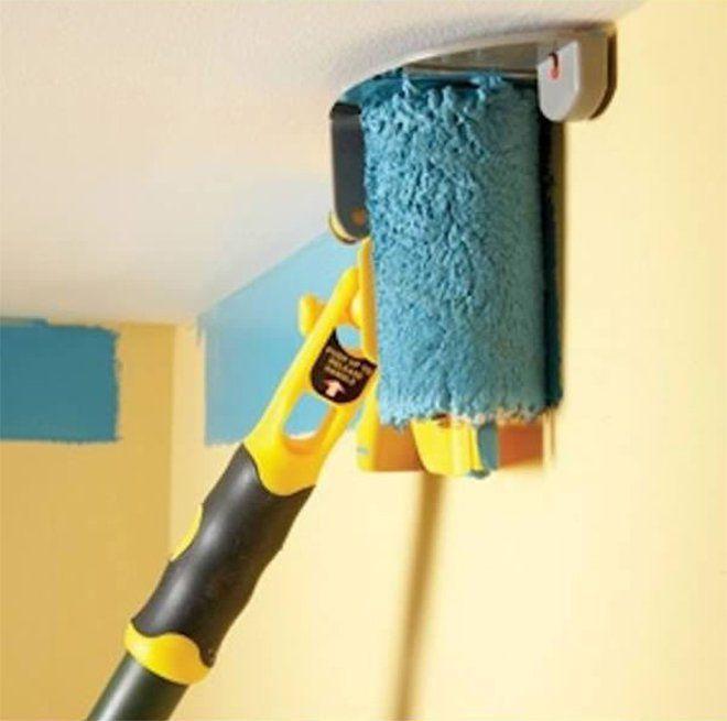 l'outil parfait pour peindre tout en haut des murs, sans tacher le