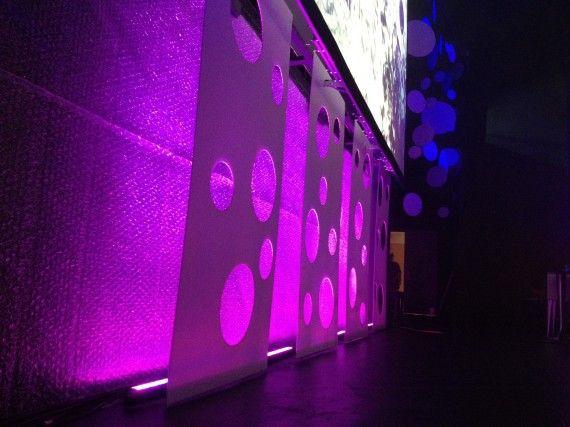 bubbles three ways church stage design ideas notice the circle cutouts were strung above church lighting ideas c21 church