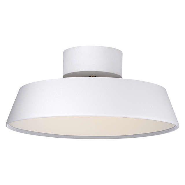 buynordlux alba led adjustable tilt semiflush ceiling light white online at johnlewis