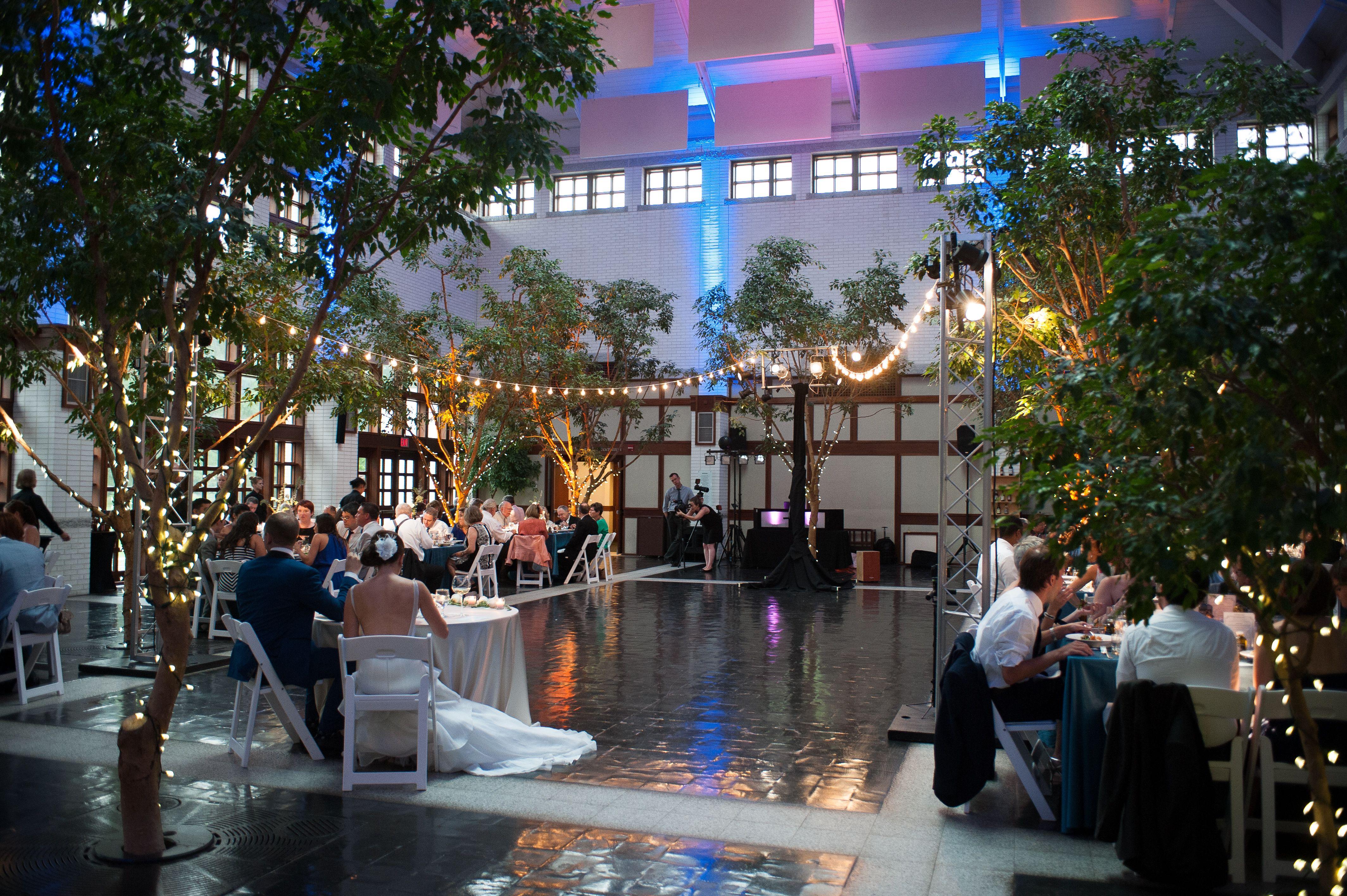 Wedding venue at Virginia Beach's MOCA. Lighting by ...