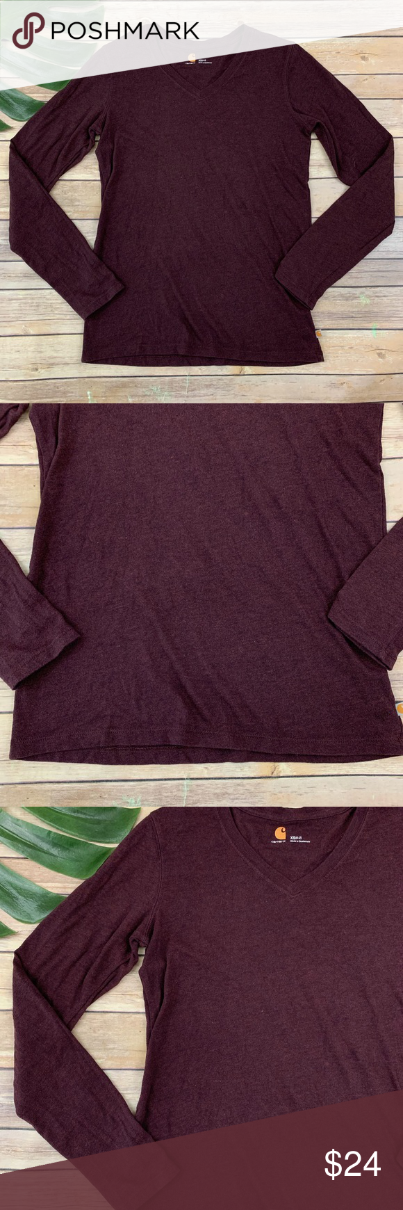 Carhartt womens dark purple long sleeve v-neck top Carhartt women's dark purple long sleeve v-neck top, size XS. Measures about 34 around bust, about 24 long. Free of rips and stains. Carhartt Tops Tees - Long Sleeve #carharttwomen Carhartt womens dark purple long sleeve v-neck top Carhartt women's dark purple long sleeve v-neck top, size XS. Measures about 34 around bust, about 24 long. Free of rips and stains. Carhartt Tops Tees - Long Sleeve #carharttwomen Carhartt womens dark purple long s #carharttwomen