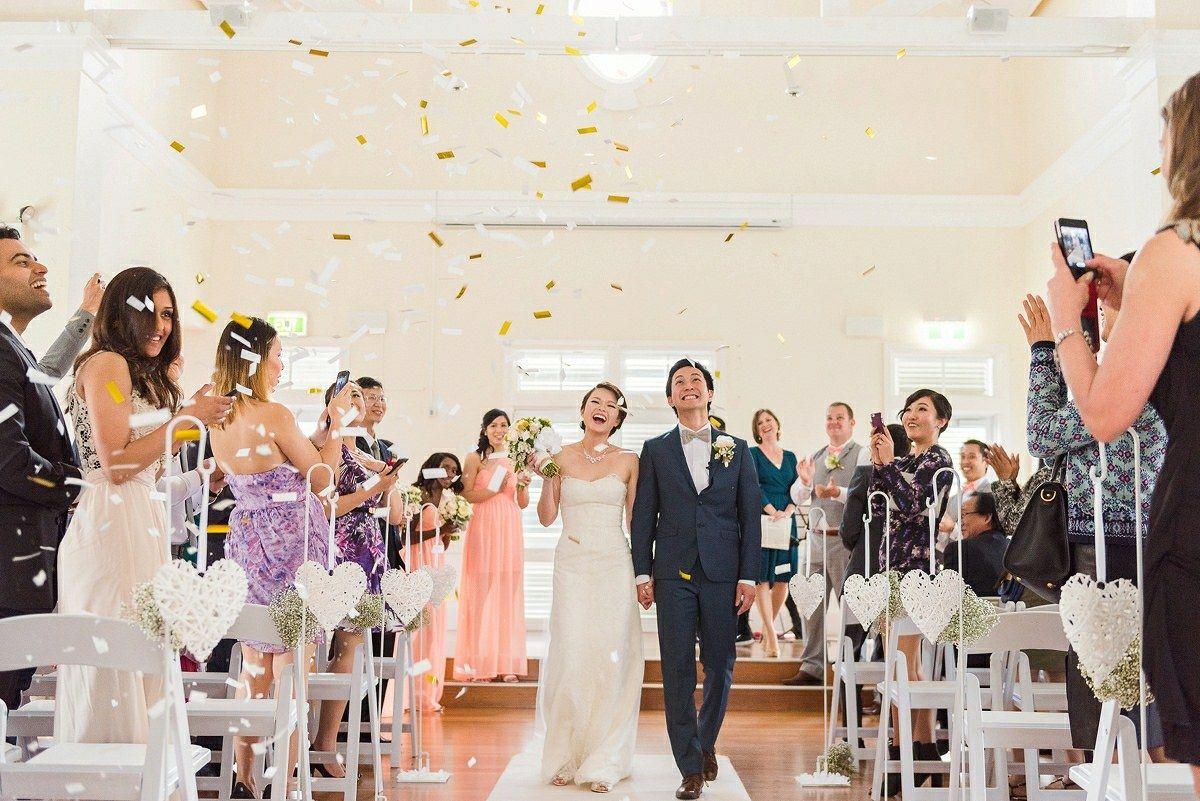 sydney wedding ceremony at breakfast point community hall