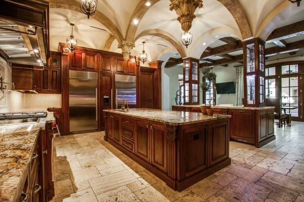 mediterranean kitchen with oregon tile & marble - andino dark