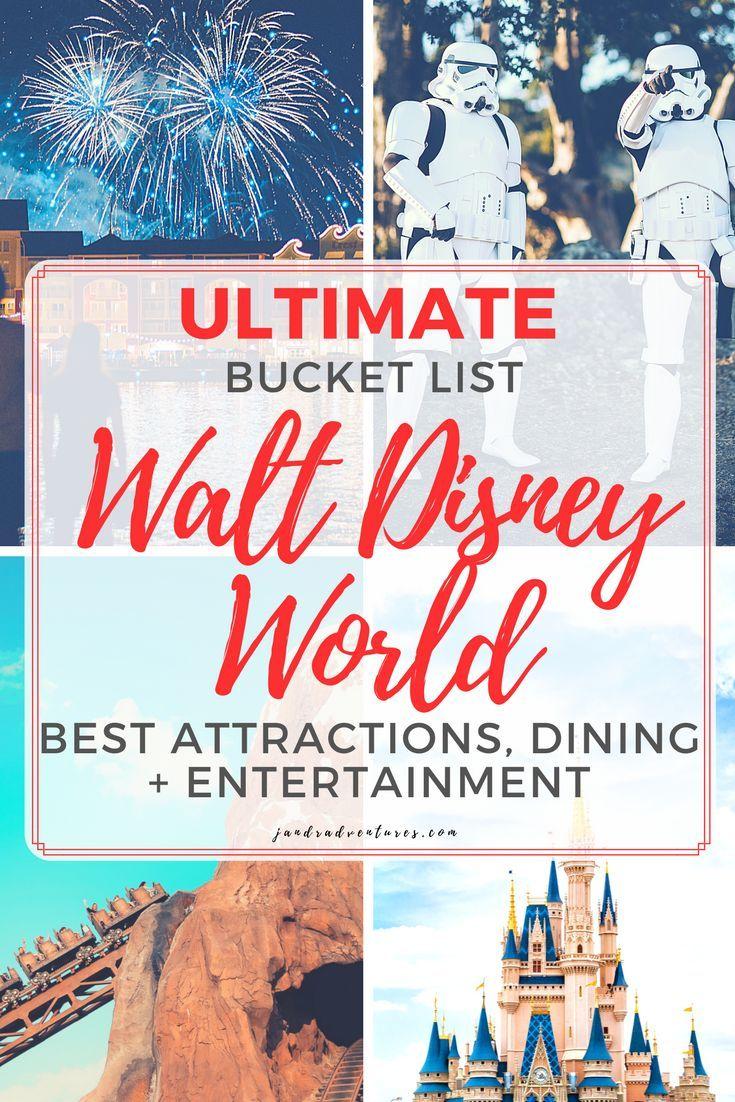Walt Disney World Bucket List Florida vacation spots