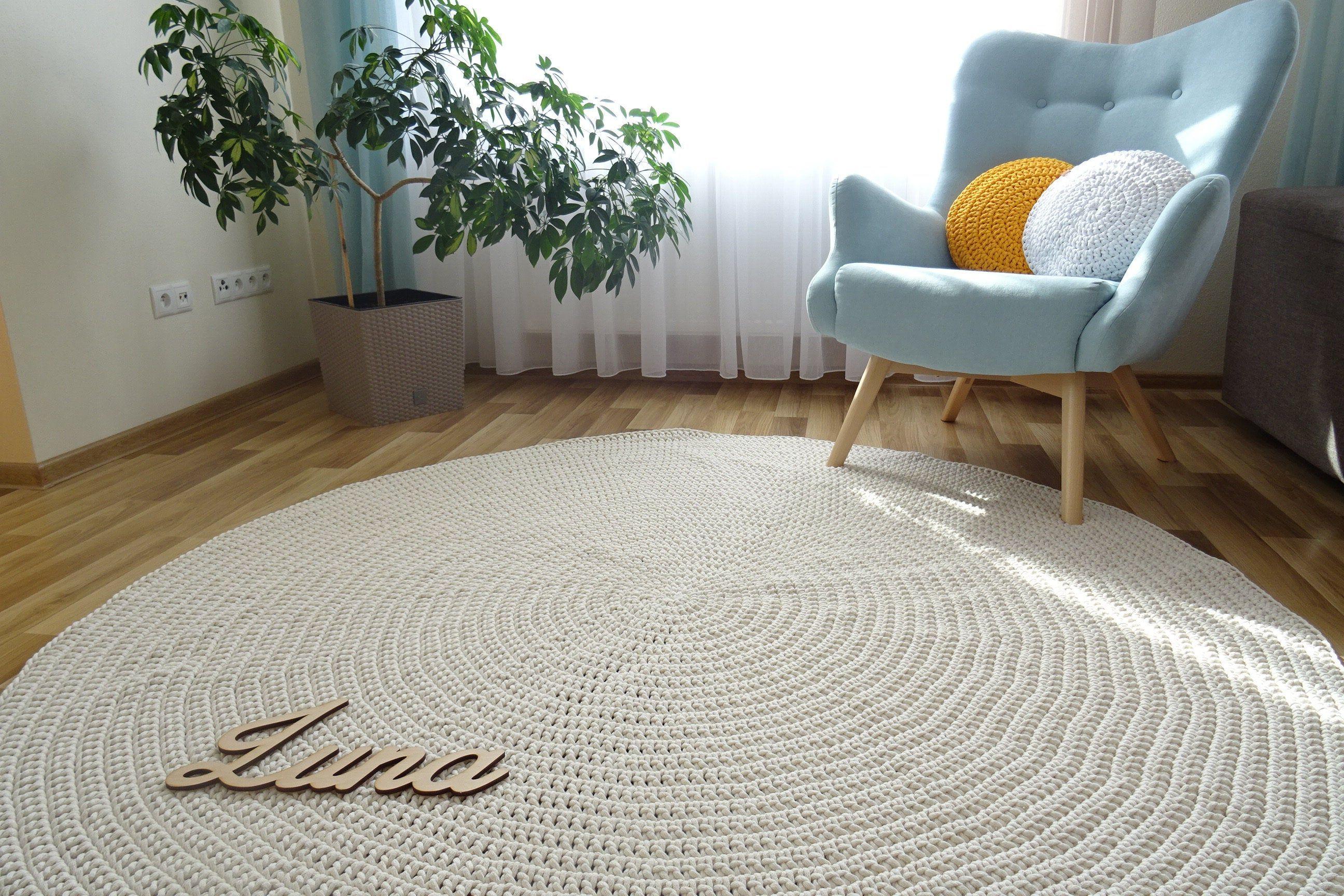 Teppich wohnzimmer, kinderteppich, runder teppich, teppich ...