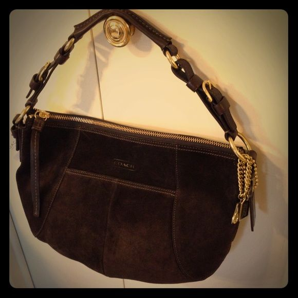 Coach Soho Suede Leather Hobo W Cleaning Kit Nwt
