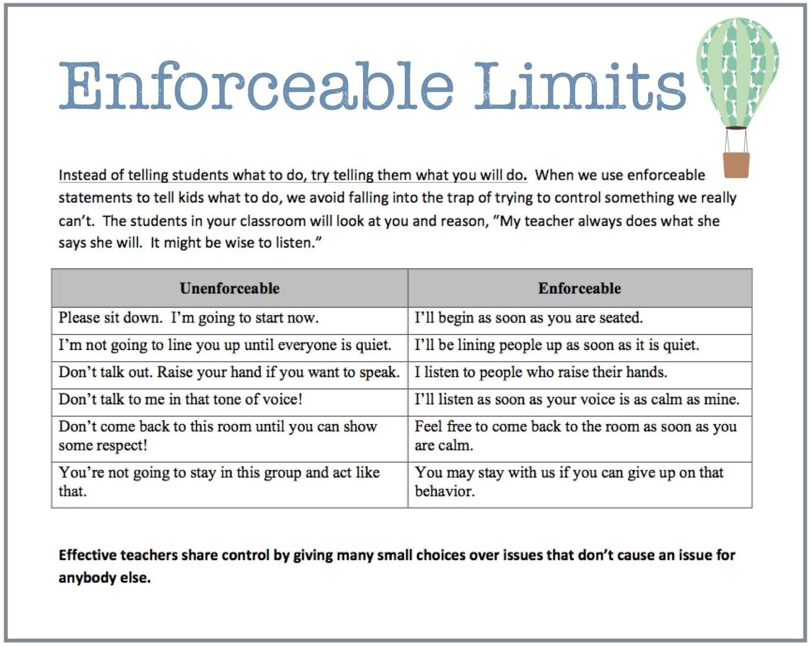 Creating Enforceable Limits For Your Children