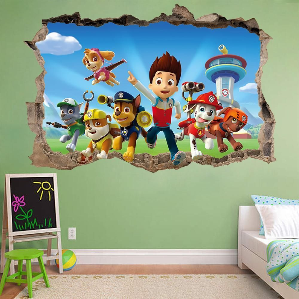 Nickelodeon Paw Patrol 4-Piece Canvas Wall Art | Nickelodeon paw ...