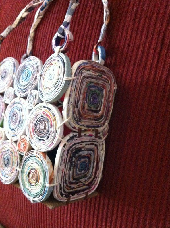 OLIVIA mia borsetta borsa unico di carta riciclata di Artesa