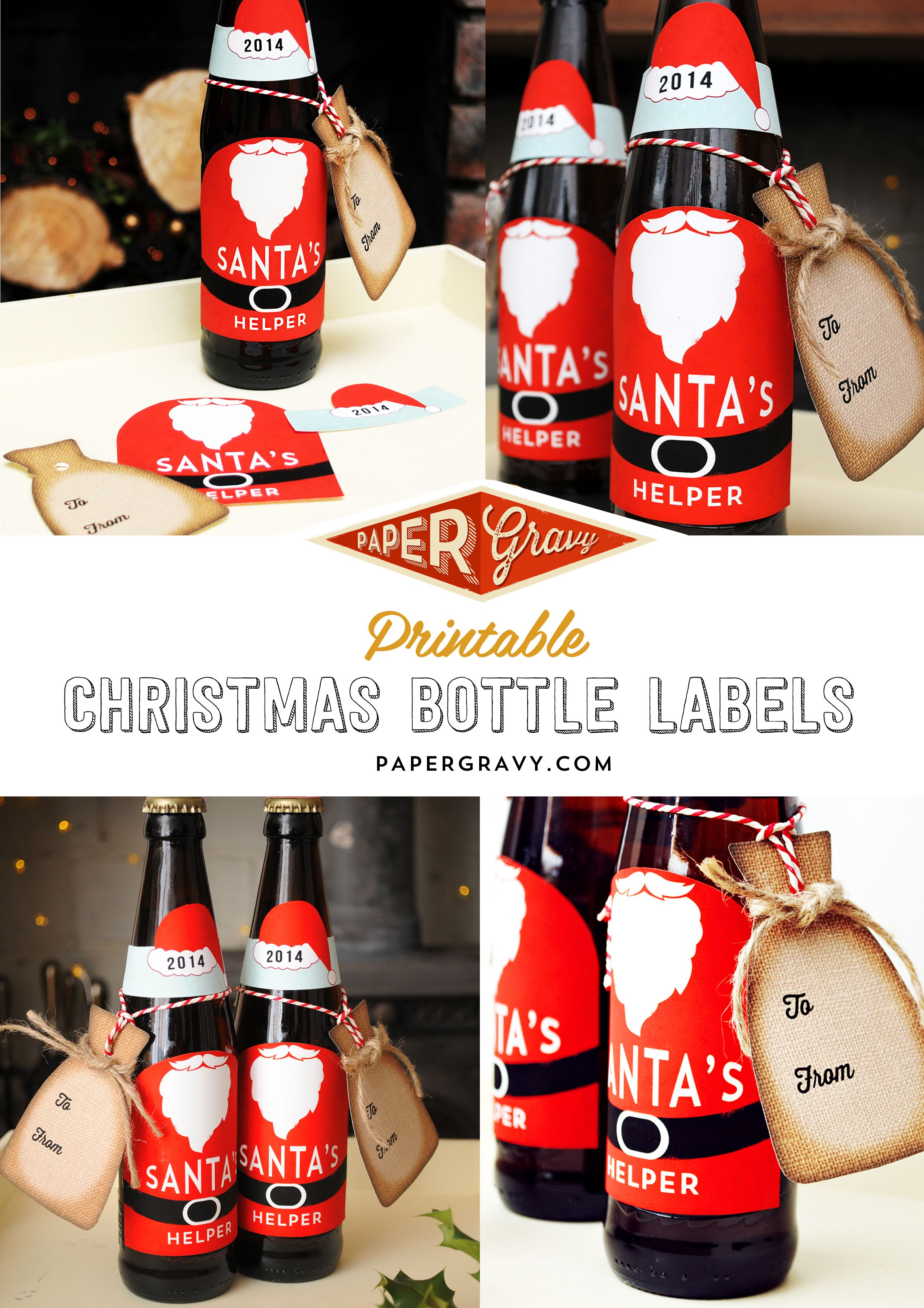 Free Printable Santa Suit Beer Bottle Labels By Papergravy Com Christmas Beer Friend Christmas Cheap Christmas Gifts