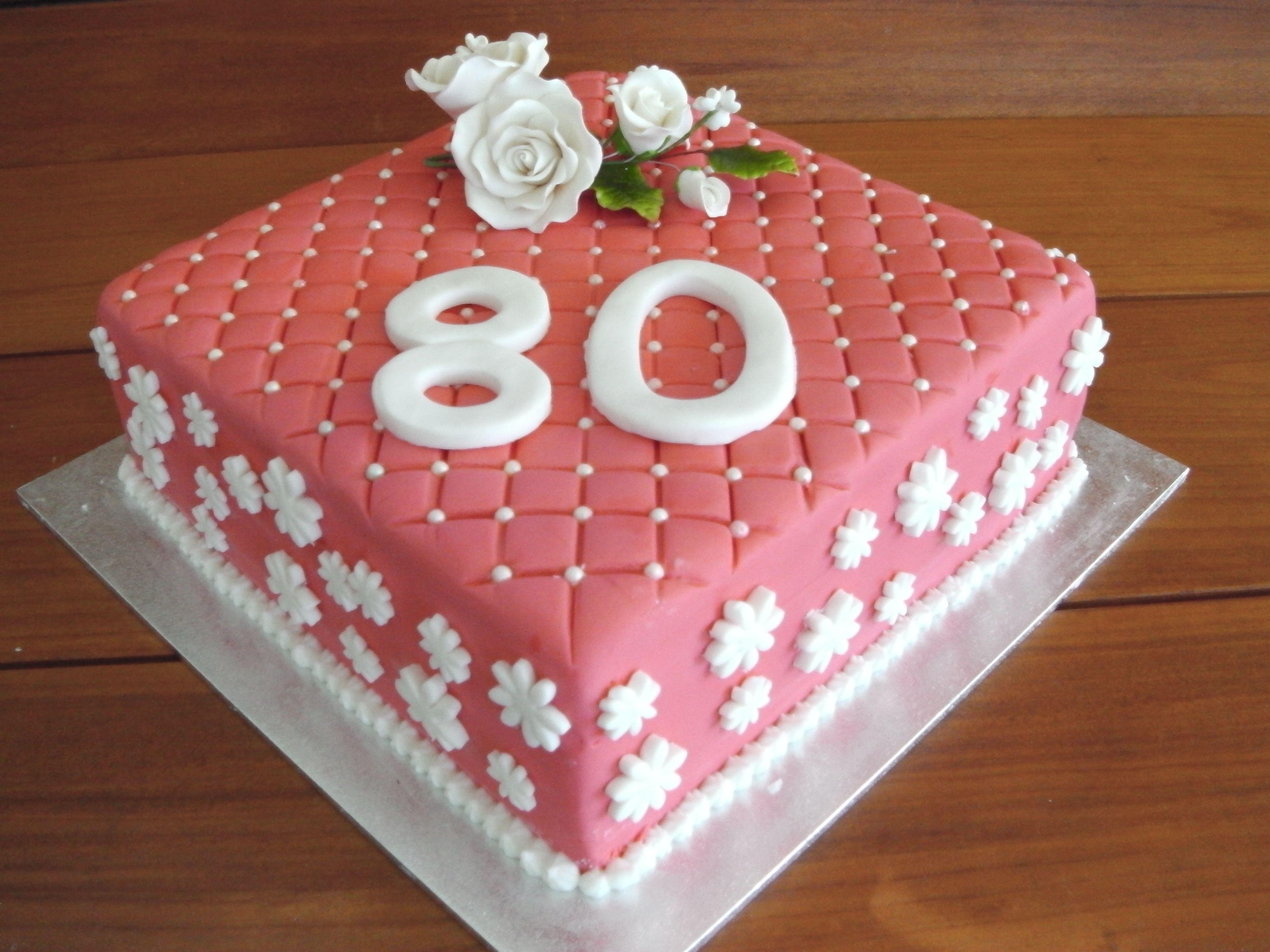 Happy 80th Birthday Mary Traditional rich fruit cake Bakin