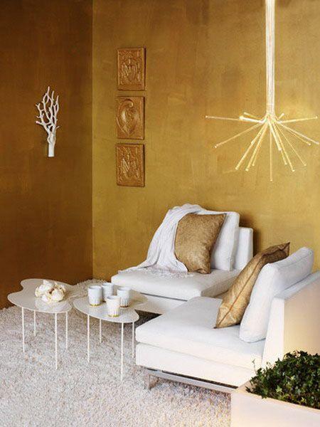 Golden Interior Decorating Ideas, Modern Room Decor | Pinterest | Wohnen