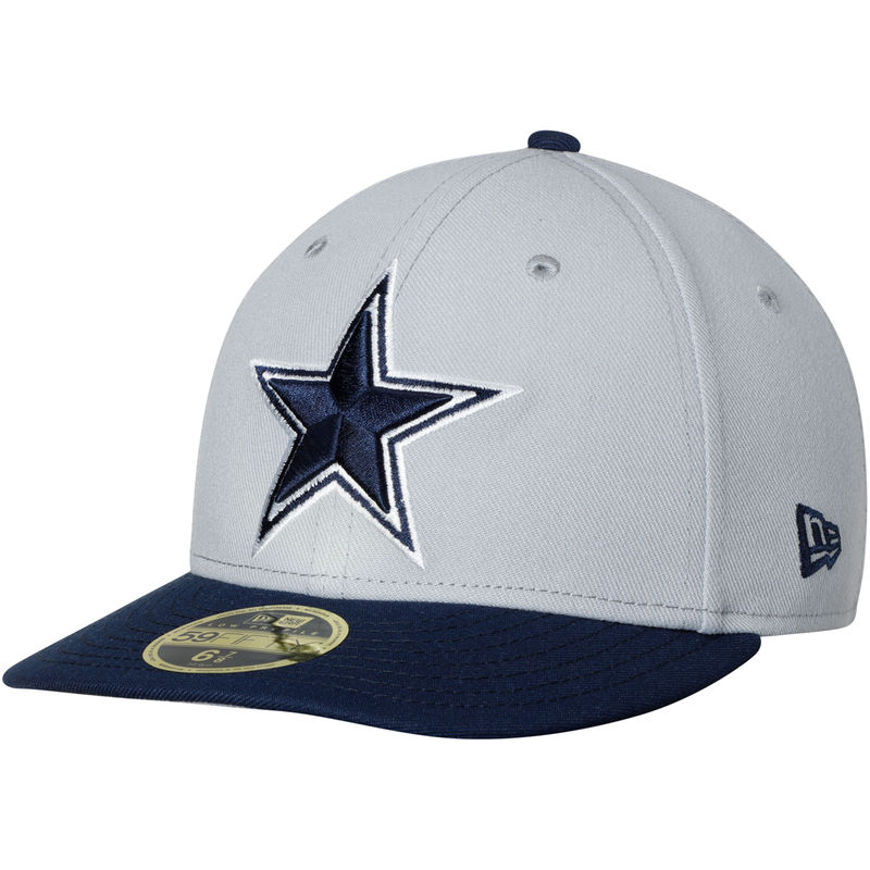 best service 2e94f a80d2 Dallas Cowboys New Era Omaha II Low Profile 59FIFTY Fitted Hat – Gray Navy