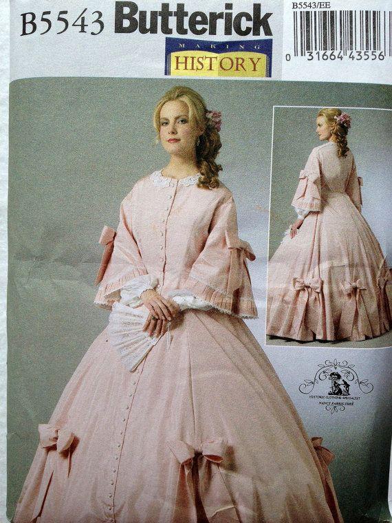 NEUES Butterick 5543 Bürgerkrieg Kleid von BaublesAndKitsch auf Etsy ...