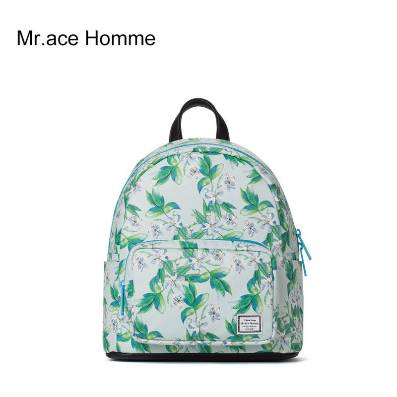 28cd5aef5180 ACE HOMME Women Backpack Ladies Floral Printing Travel Back Pack Fresh  Bagpack for Teens