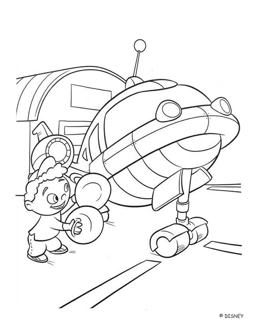 Color Quincy And Rocket Coloring Page Of The Famous Disney