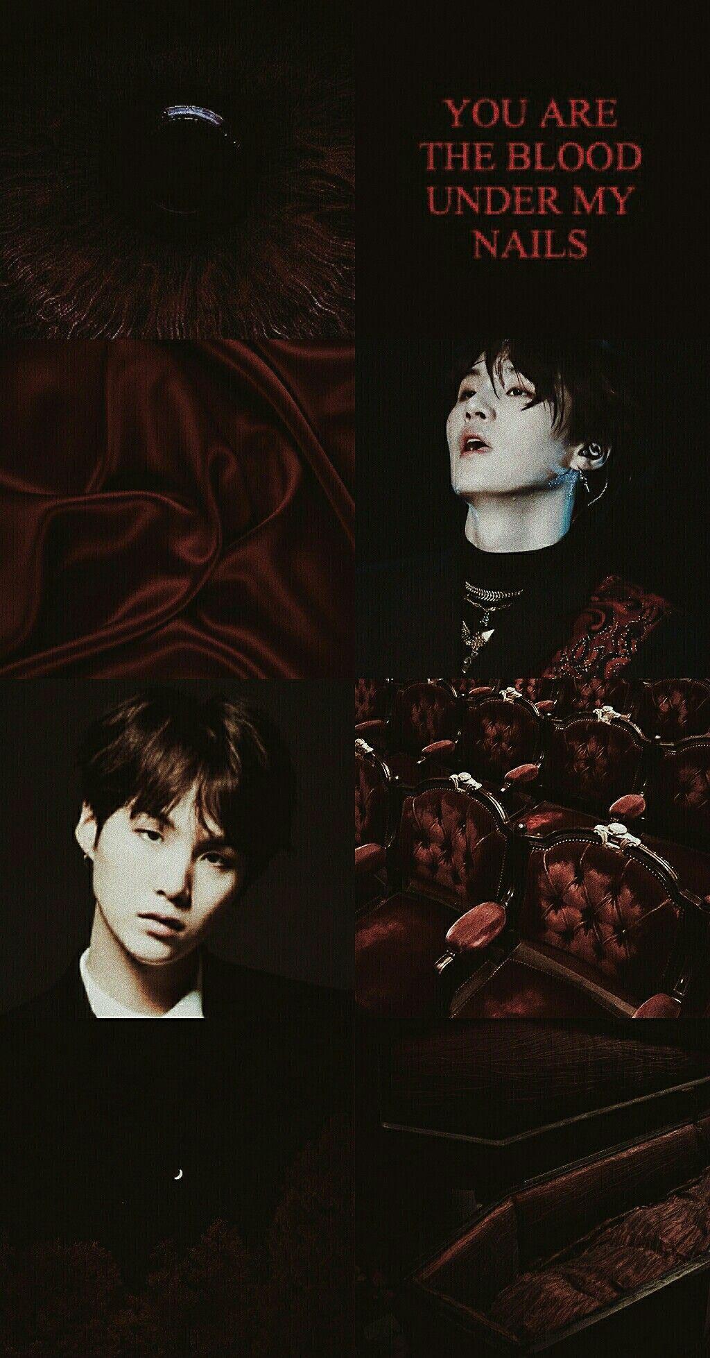 Yoongi Aesthetic Vampire Black And Red Black Vampire Vampire Black And Red