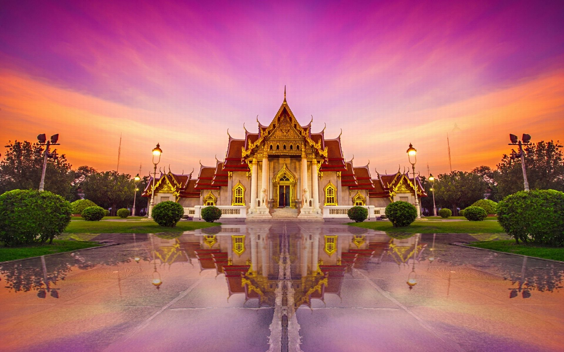 Thailand Temple Wallpaper Full HD City