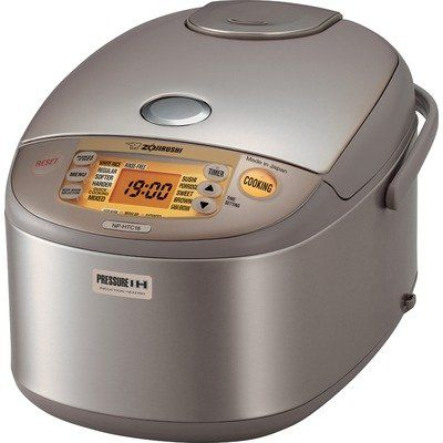 Best Buy Zojirushi Np Htc18 Induction Heating 10 Cup Uncooked Pressure Rice Cooker And Warmer Rice Cooker Zojirushi Induction Heating
