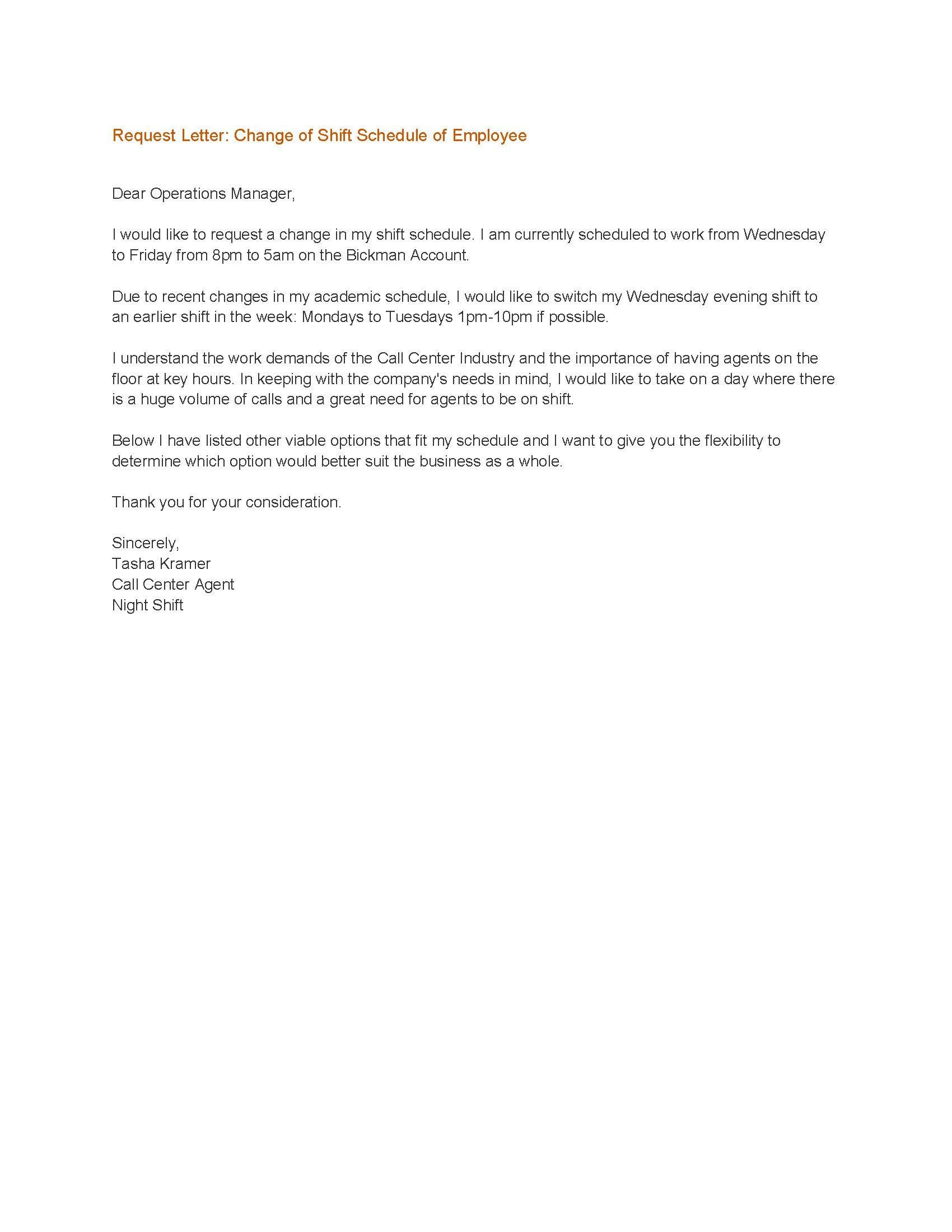 Shift Change Letter To Employee from i.pinimg.com