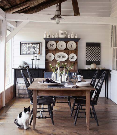 7 Lovely Dining Rooms Comedores, Madera y Negro - Comedores De Madera