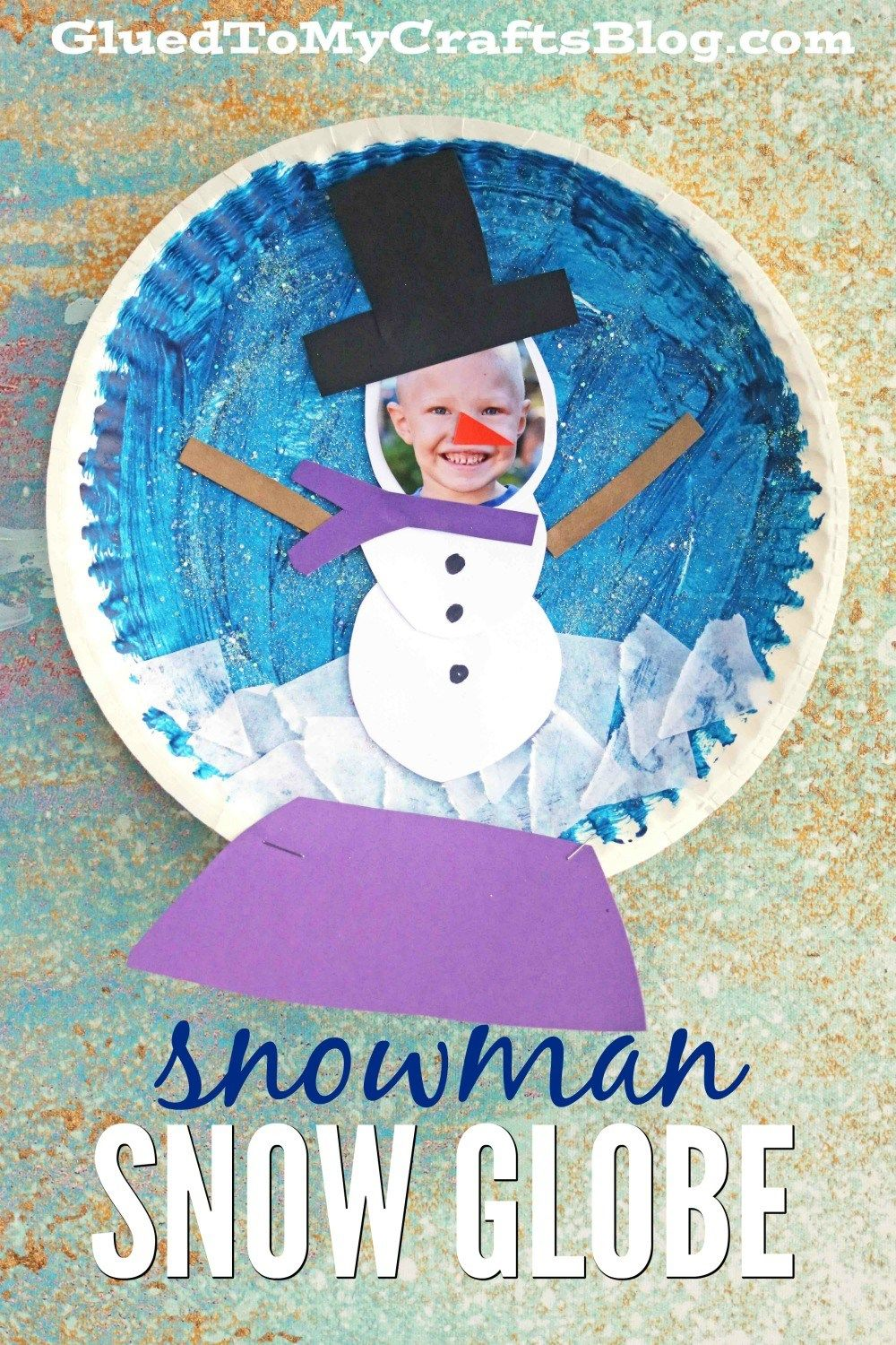 Personalized paper plate snowman snow globe kid craft snowman personalized paper plate snowman snow globe kid craft jeuxipadfo Gallery