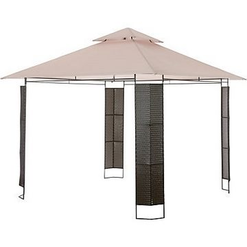 Patio Gazebo Canopy- Cover- Roof- Ceiling- Top- Lid- Hood- x Steel-framed Gazebo Canopy for Homebase Panama 309928 Two tier Gazebo  sc 1 st  Pinterest : 2 tier gazebo canopy replacement - memphite.com