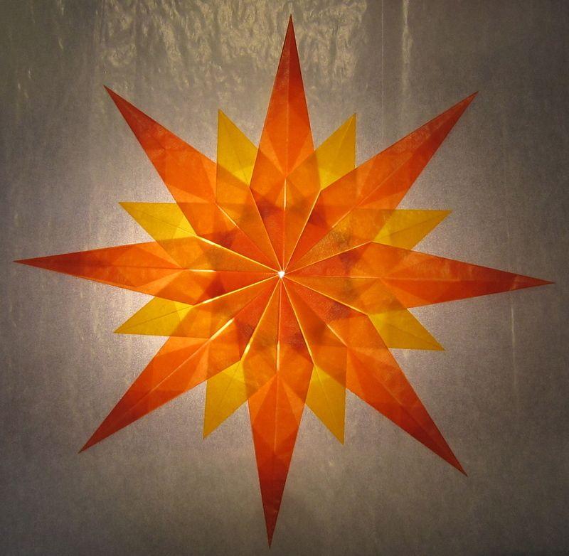 Orange Gelber Stern Basteln Mit Transparentpapier