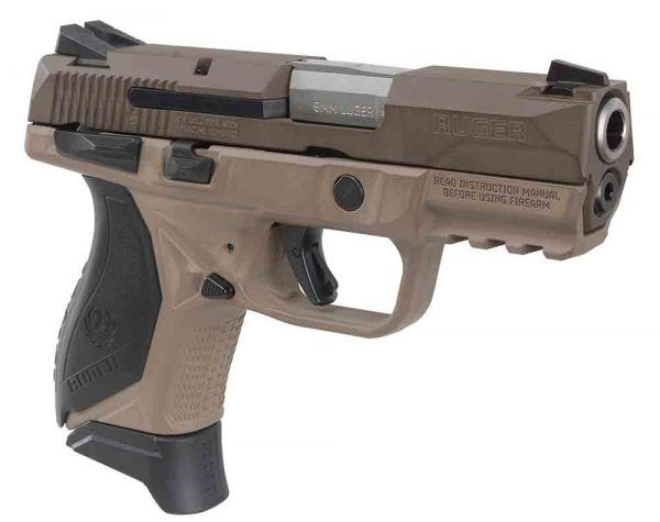 The Ruger American Compact Pistol in 9mm with Flat Dark