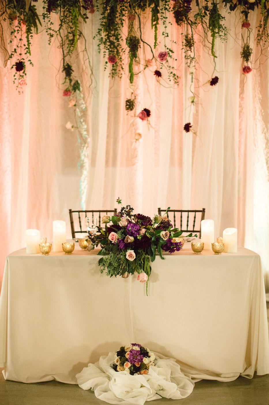 Cleveland City Hall Rotunda Wedding Wedding Reception Backdrop Head Table Wedding Bridal Table