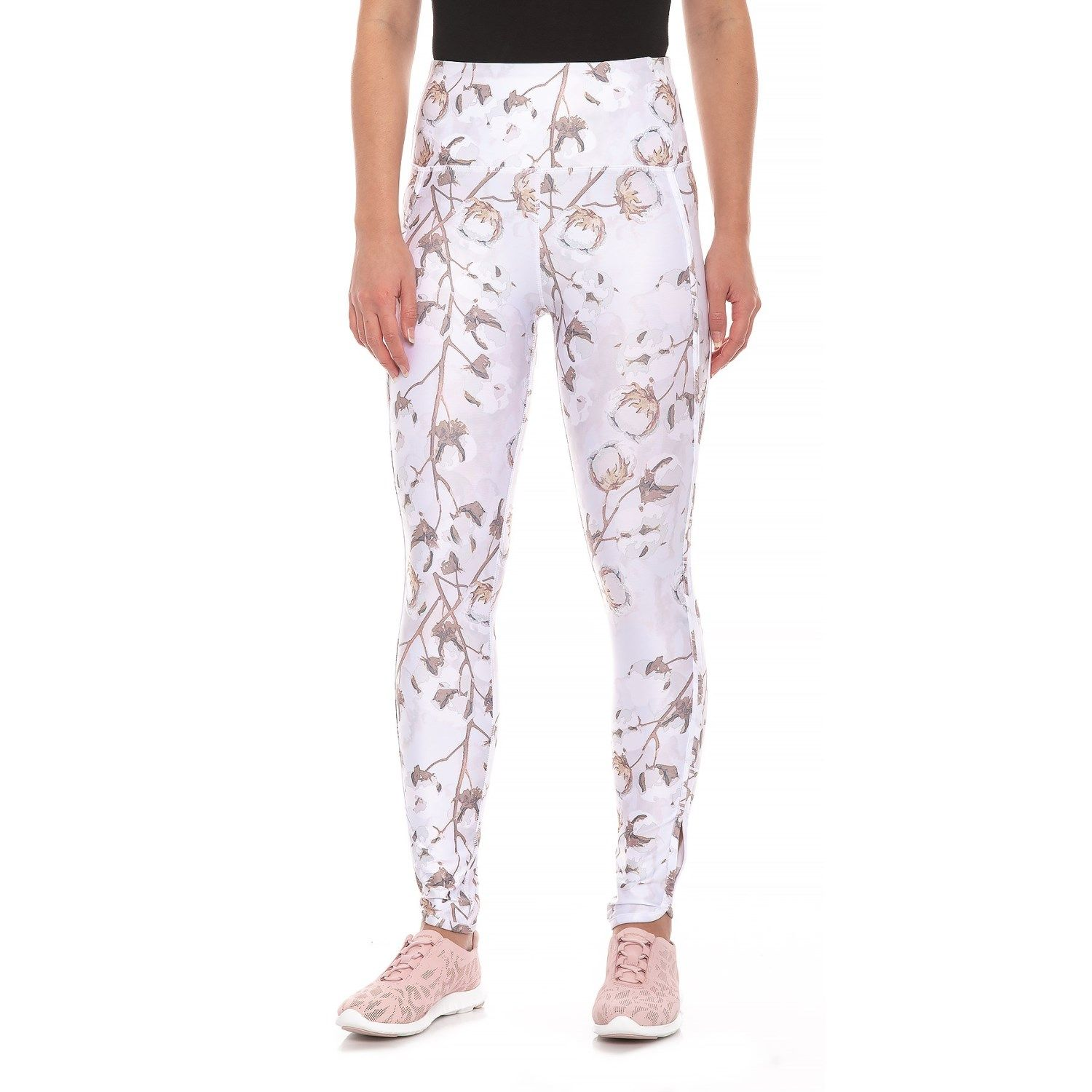 29773ac6ff8a61 Kyodan Tulip Hem Printed Leggings (For Women) in Cotton Blossom, Leaves at  Sierra Trading Post. Celebrating 30 Years Of Exploring.