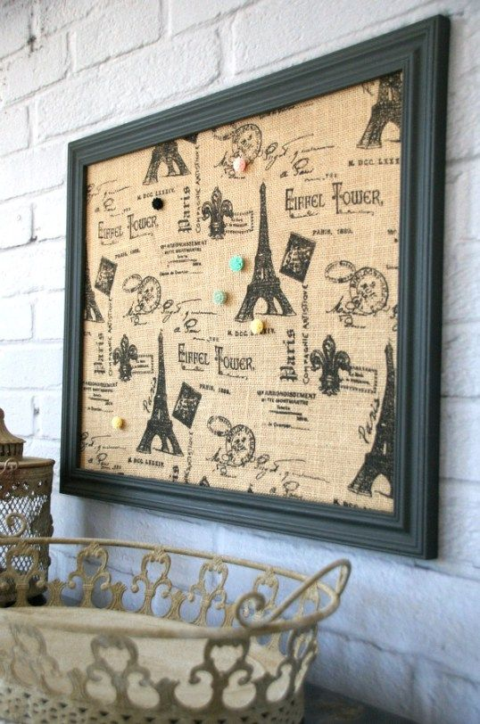 Easy Fabric Covered Bulletin Board Corkboard Crafts