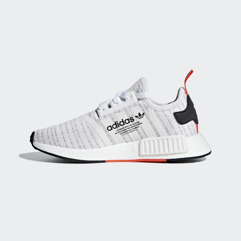 Nmd R1 Shoes Cloud White Cloud White Solar Red F35838 Adidas