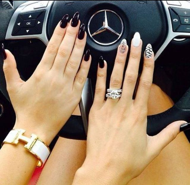 Like these nails diamond ring and the bracelet