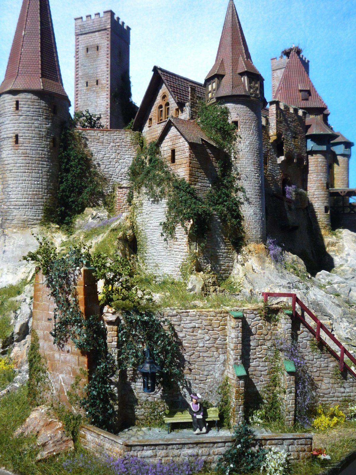 Diorama Castle Burg Schloss Elbenwald Patiniert Beleuchtung Kutsche Ebay Burg Diorama Modelleisenbahn