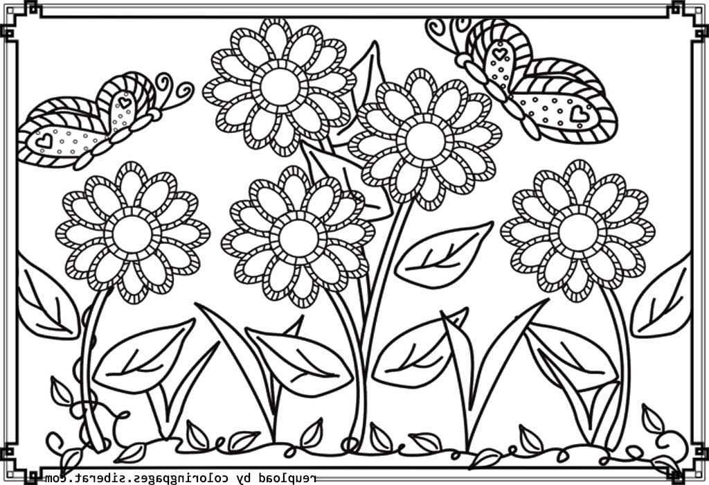 Flower Garden Coloring Pages Butterfly Coloring Page Flower Coloring Pages Printable Flower Coloring Pages
