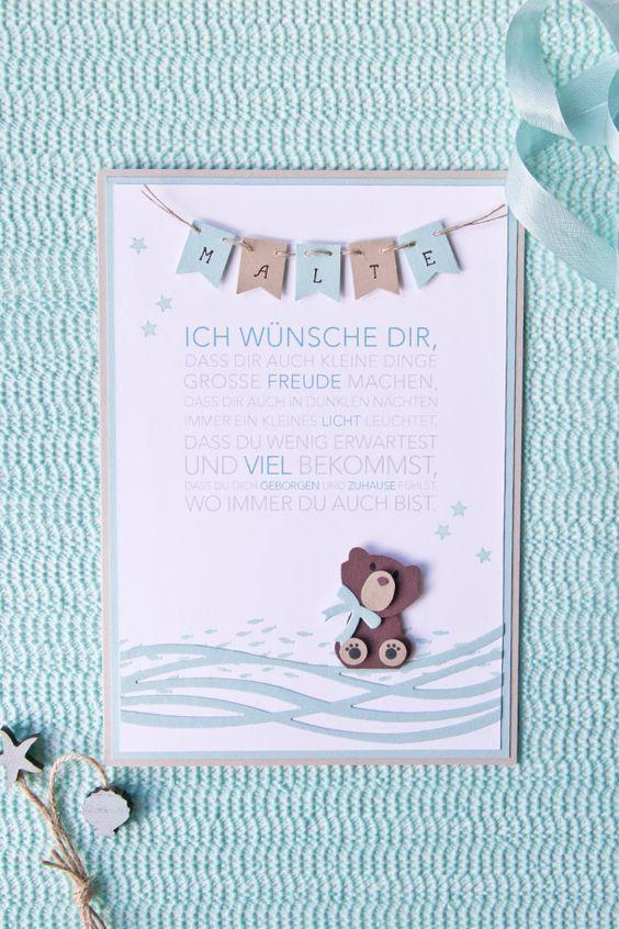 """Baby /""""Bärchen/"""" blau Taufe Geburt Bilderrahmen personalisiert Geschenk"""