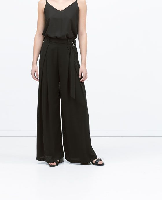 ZARA - WOMAN - BUCKLED PLEATED TROUSERS