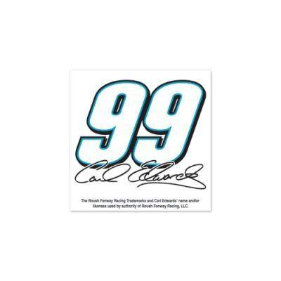 NASCAR CARL EDWARDS OFFICIAL LOGO TEMPORARY TATTOO 4 PACK