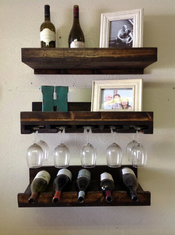 Set Of 3 Floating Wine Bar Free Shipping By Urbanwooddesigns 149 00 Wine Shelves Wine Rack Shelf Shelves