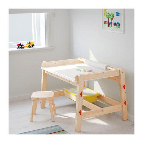 Flisat escritorio p ni o ikea los ni os son creativos - Mesa regulable en altura ikea ...