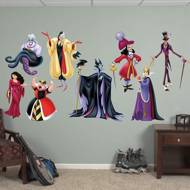 Disney Villains Collection Fathead Wall Decal Disney Wall Decals