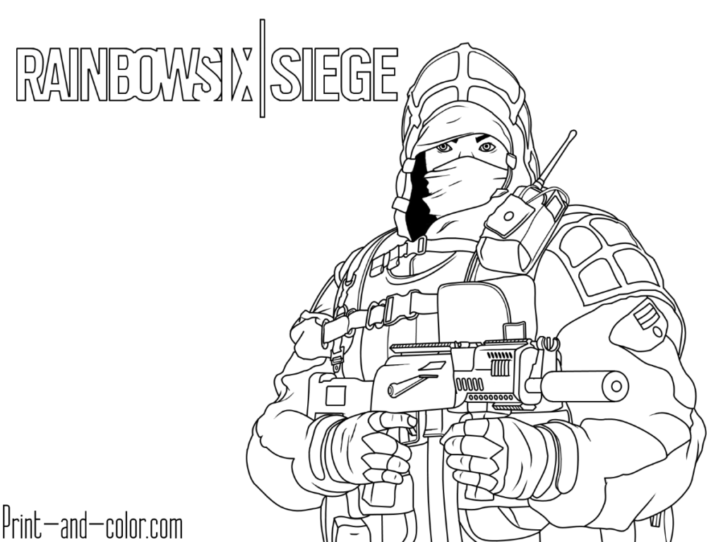 Rainbow Six Siege Coloring Pages With Images Coloring Pages