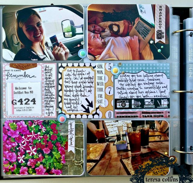 TERESA COLLINS DESIGN TEAM: Project Life by Dedra Long using Summer Stories Collection