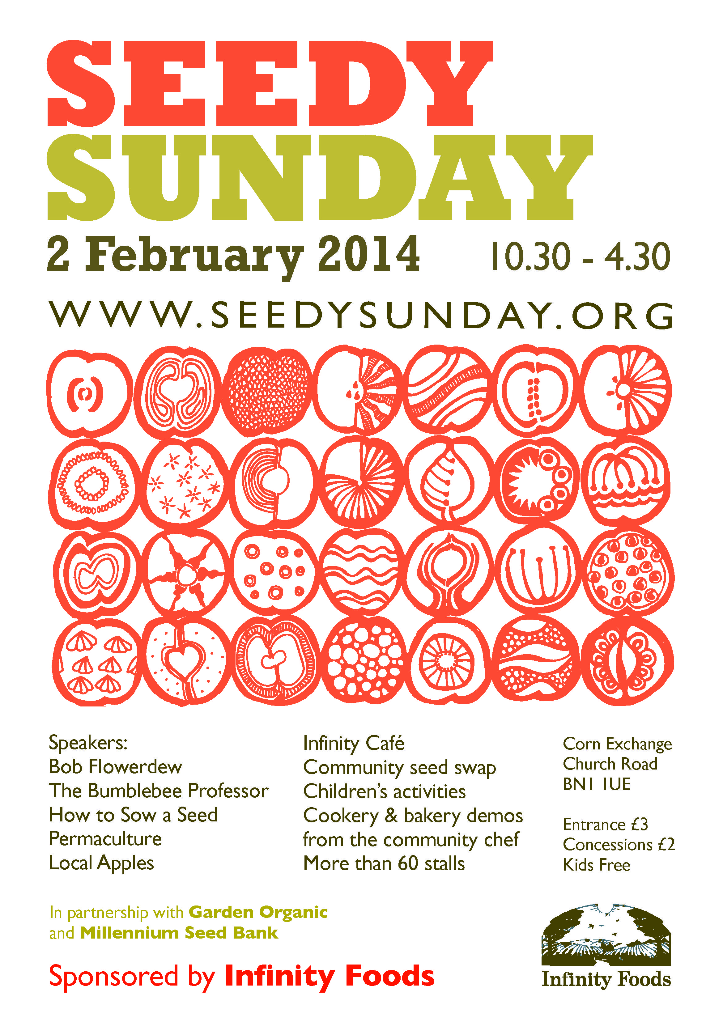 Poster and merch design by Lucid Design for Seedy Sunday Brighton- 2nd Feb 2014. great event