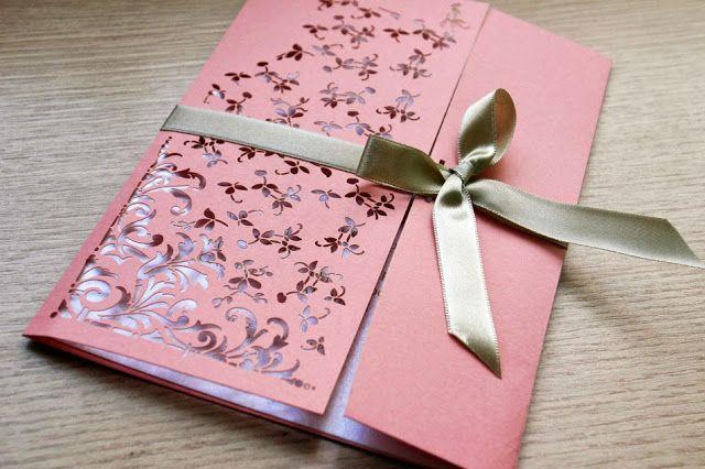Ideias Para Convite De 15 Anos: Festa De Debutante Convite Salmão Branco