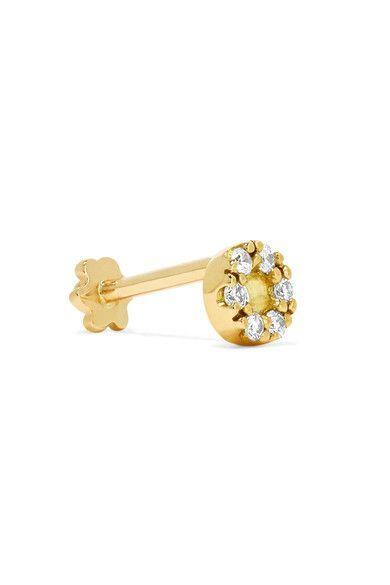 Mini 18 Carats Boucle D'oreille De Diamant D'or - Taille Maria Tash b6Czi5B