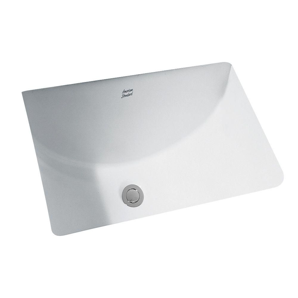 American Standard Studio Undercounter Bathroom Sink With Glazed