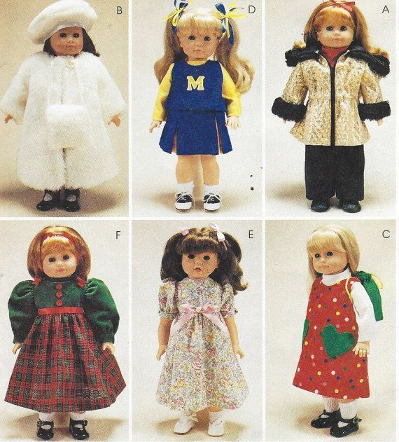 90s 18 Inch Doll Clothes, Parka with Top & Pants, Coat, Jumper and Backpack, Cheerleader Outfit McCalls Sewing Pattern 9618 UnCut #18inchcheerleaderclothes 90s McCalls Crafts Pattern 9618 18 Inch Doll by CloesCloset #18inchcheerleaderclothes 90s 18 Inch Doll Clothes, Parka with Top & Pants, Coat, Jumper and Backpack, Cheerleader Outfit McCalls Sewing Pattern 9618 UnCut #18inchcheerleaderclothes 90s McCalls Crafts Pattern 9618 18 Inch Doll by CloesCloset #18inchcheerleaderclothes